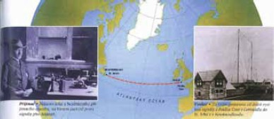 Obr. 1 První bezdrátové spojení přes Atlantický oceán